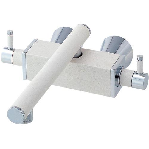 ###≧π三栄水栓/SANEI 水栓金具【K2530K-JW-13】寒冷地ツーバルブ混合栓 白磁 受注生産