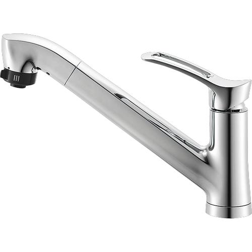 ▽π三栄水栓/SANEI 水栓金具【K87120JV-13】シングルワンホールスプレー混合栓