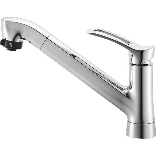 ▽π三栄水栓/SANEI 水栓金具【K87120TJV-13】シングルワンホールスプレー混合栓