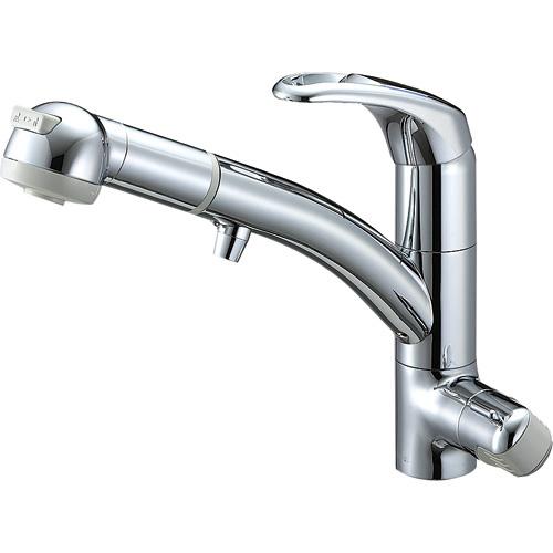 『カード対応OK!』三栄水栓/SANEI 水栓金具【K8767JV2-7S-C-13】シングルワンホールスプレー混合栓(浄水器兼用)
