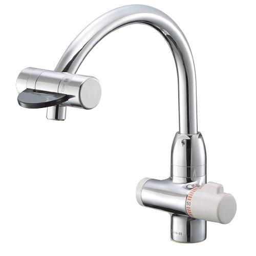 ≧三栄水栓/SANEI 水栓金具【K88010V-13】サーモワンホール混合栓