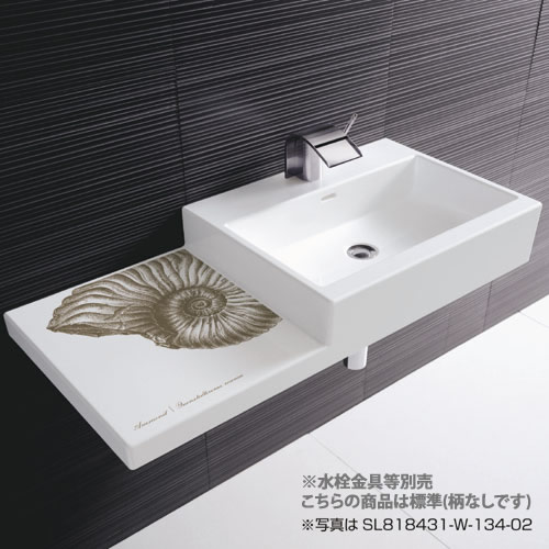 >π三栄水栓/SANEI【SL818431-W-104】洗面器 標準 柄なし
