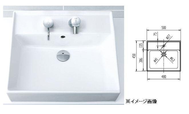 ☆☆L-555ANC カード対応OK 年中無休 INAX 洗面器 L-555ANC カラン穴対応ANC 洗面器のみ 角形洗面器 新色追加