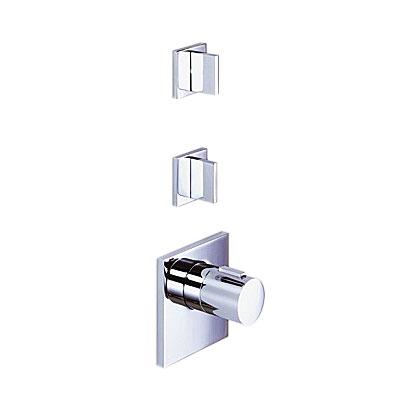 『カード対応OK!』###リラインス【36.416.780.00+36.310.782.00(x2コ)(バルブ)+35.526.970.90(埋込部)】壁埋込型サーモスタット(2バルブ止水機能付) ドンブラハ メム 受注約2ヶ月