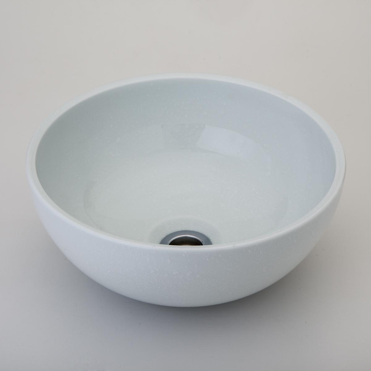 『カード対応OK!』###リラインス 置き型手洗器【LSB2-SH】(白吹) (手洗器のみ) シルキーポーセリン・シリーズ φ280 受注約3週間