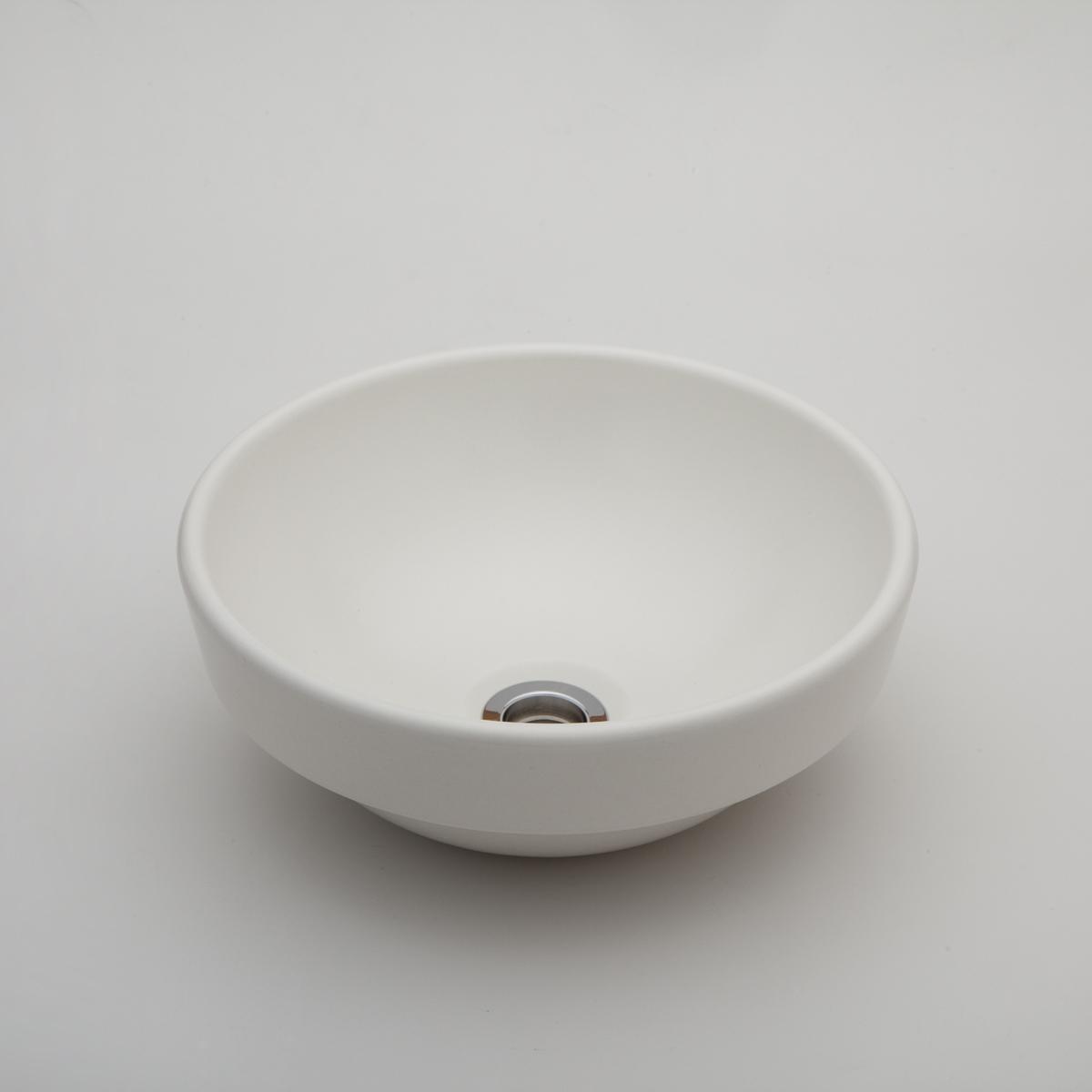 『カード対応OK!』###リラインス リブ付手洗器【LSM5-MO】(素白) (手洗器のみ) モノクロームシリーズ φ275 受注約2週間