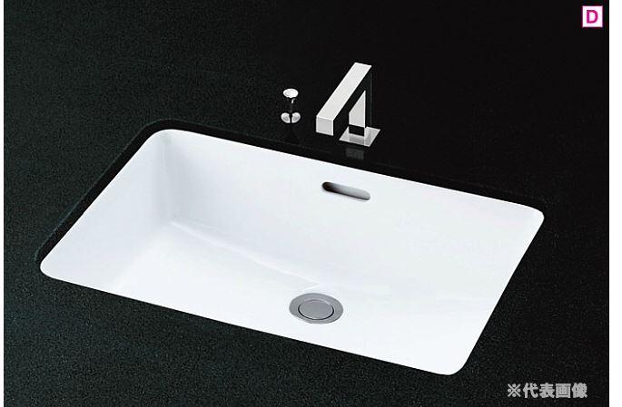 『カード対応OK!』###TOTO カウンター式洗面器【L620】(洗面器のみ) 角形洗面器 アンダーカウンター式