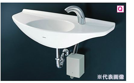 『カード対応OK!』###TOTO カウンター一体形手洗器 セット品番【L650D+TENA40AW】台付自動水栓(単水栓・発電タイプ) 壁排水金具(Pトラップ)