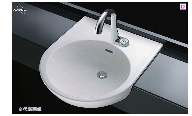 ###TOTO カウンター式洗面器【L830CRU】(洗面器のみ) はめ込み丸形洗面器 セルフリミング式