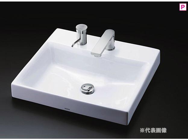 『カード対応OK!』###TOTO カウンター式洗面器【LS717CM #NW1】(洗面器のみ) ホワイト 角形洗面器 ベッセル式