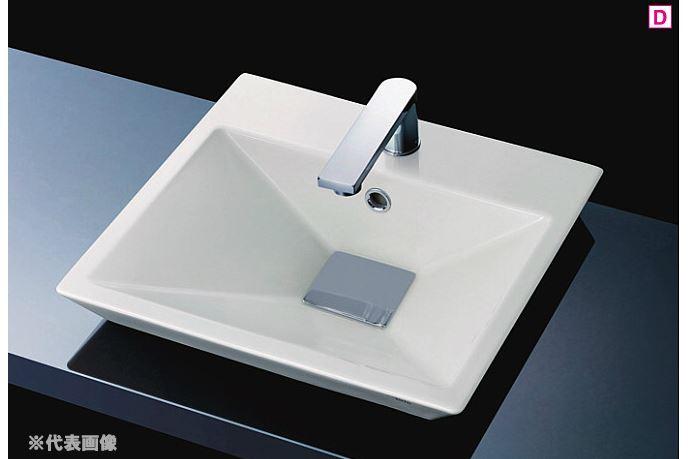 『カード対応OK!』###TOTO カウンター式洗面器【LS910CR #NW1】(洗面器のみ) ホワイト 角型洗面器(小型) ベッセル式