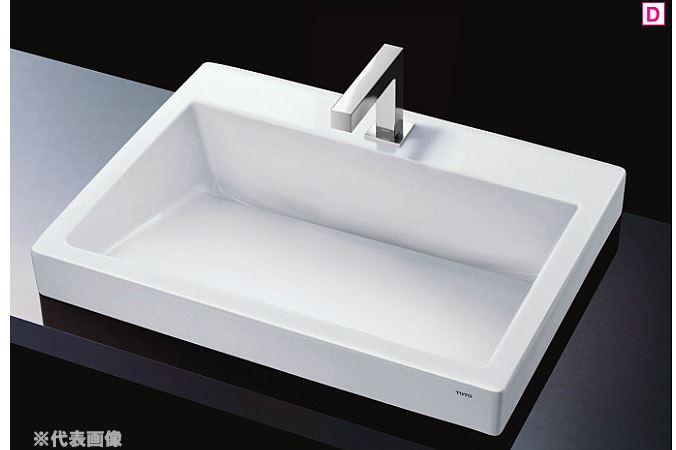 『カード対応OK!』###TOTO カウンター式洗面器【LS911CR #NW1】(洗面器のみ) ホワイト 角型洗面器(大型) ベッセル式