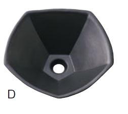 >三栄水栓/SANEI 【HW10220-D】手洗器 (信楽焼) 黒
