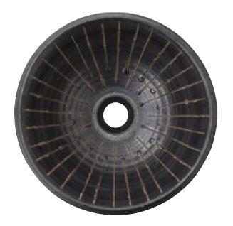 >三栄水栓/SANEI 【HW1023-014】(本体のみ) 手洗器 利楽 鐘(あつむ) 丸置型(中)