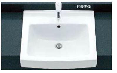 ▽INAX/LIXIL 洗面器セット【L-2150FC】はめ込み角形洗面器(オーバーカウンター式) シングルレバー混合水栓(エコハンドル) LF-WF340SY 壁給水・床排水(Sトラップ)