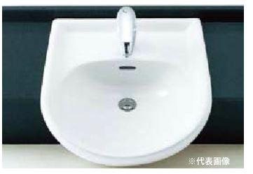 ▽INAX/LIXIL 洗面器セット【L-2160FC】はめ込み前丸形洗面器(オーバーカウンター式) シングルレバー混合水栓(エコハンドル) LF-J340SY 壁給水・壁排水(Pトラップ)