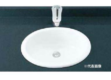 ▽INAX/LIXIL 洗面器セット【L-2292】はめ込みだ円形洗面器 シングルレバー混合水栓 LF-YB340SY 壁給水・壁排水(Pトラップ)