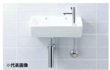 ▽INAX/LIXIL 手洗器セット品番【L-35】角形手洗器(壁付式) 立水栓 LF-48 壁給水・床排水(Sトラップ)