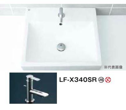 INAX 洗面器セット【L-536FC】角形洗面器(ベッセル式) 吐水口回転式 シングルレバー混合水栓 LF-X340SR 壁給水・床排水(Sトラップ)