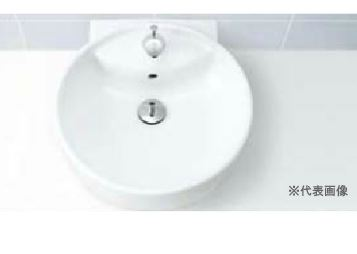 ▽INAX/LIXIL 洗面器セット【L-543FC】丸形洗面器(ベッセル・壁付兼用式) 自動水栓 AC100V仕様 AM-200TV1 壁給水・壁排水(Pトラップ)