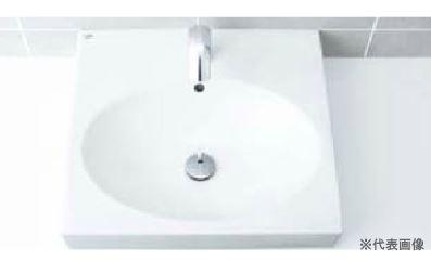 ▽INAX/LIXIL 洗面器セット【L-546ANC】角形洗面器(ベッセル式) 自動水栓 AC100V仕様 AM-140TC(100V) 壁給水・床排水(Sトラップ)