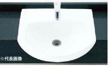 ▽INAX/LIXIL 手洗器セット品番【L-62FC】はめ込み前丸形手洗器(オーバーカウンター式) シングルレバー混合水栓(エコハンドル) LF-WF340SYC 壁給水・床排水(Sトラップ)