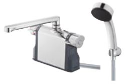 『カード対応OK!』三栄水栓/SANEI 水栓金具【SK7810-S9L24】サーモデッキシャワー混合栓 (パイプの長さ240mm)