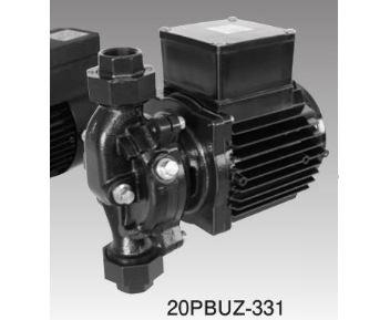 三相電機 鋳鉄製ラインポンプ【20PBUZ-331A】50Hz メカニカルシールタイプ (全閉モータ) 単相100V 30W