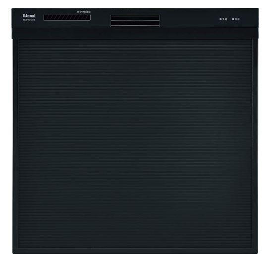 ###▽リンナイ 食器洗い乾燥機【RSW-404A-B】取替用タイプ スライドオープン ブラック 幅45cm