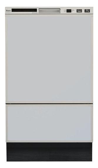 ###▽リンナイ 食器洗い乾燥機【RSW-F402C-SV】取替用タイプ フロントオープン シルバー 幅45cm 化粧パネル対応(グレー(光沢)付属)