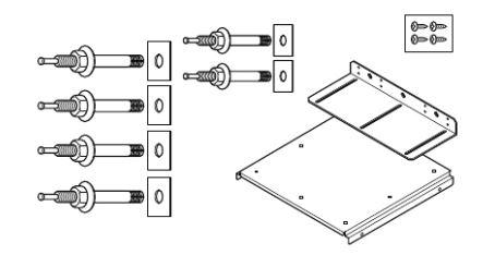 パナソニック【AD-3312DAC】耐震固定金具セット RC床用