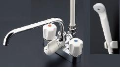 《あす楽》◆15時迄出荷OK!TOTO 2ハンドルシャワー金具【TMS26C】台付きタイプスプレー(節水)