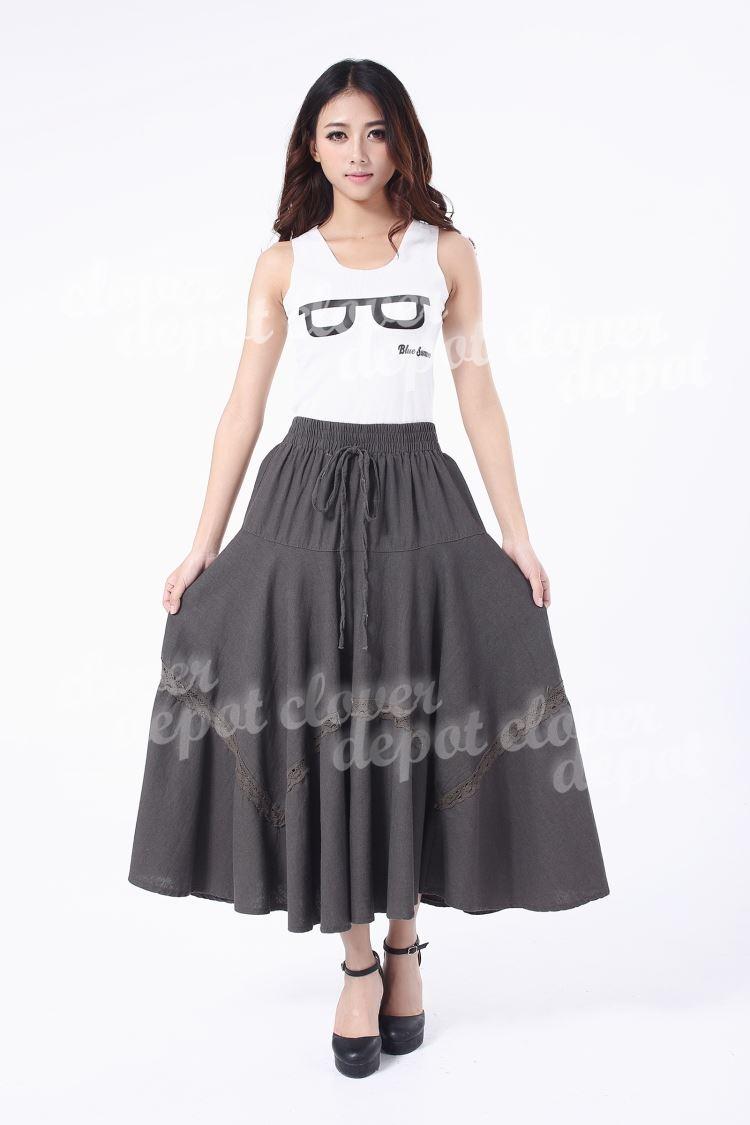 77ccd408ebd1 ... Beauty style linen skirt ♪ Super Maxi skirt flare tulle skirt pleated  skirt matanitydenimlike linen denim ...