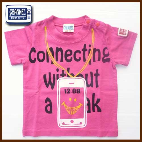 売り尽くしSALE CHANNEL チャンネル スマートフォン半袖Tシャツ ピンク 5213 80cm-130cm キッズ 子供服 ナチュラル ジュニア ギフト プレゼント 最安値に挑戦 かわいい 保育園 お出かけ 割引 最安値
