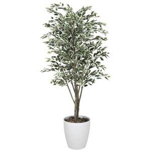 《アートグリーン》《人工観葉植物》光触媒 光の楽園 ベンジャミンツリ-斑入り1.8