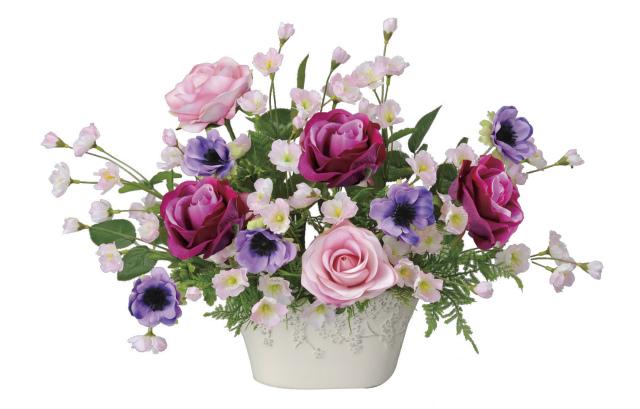 《アートフラワー》《造花》光触媒 光の楽園 ローズベール