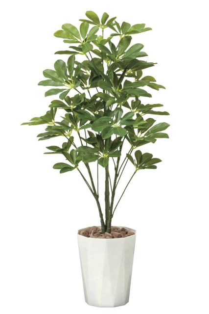 【送料無料】《アートグリーン》《人工観葉植物》光触媒 光の楽園 シェフレラ90
