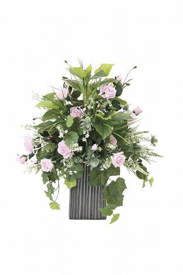 【送料無料】《アートフラワー》《人工観葉植物》光触媒 光の楽園 パリスピンク