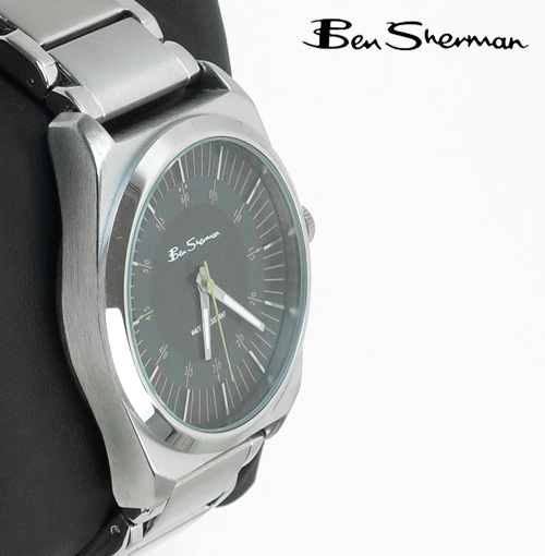 ベンシャーマン Ben Sherman グレー フェイス 腕時計 ラージ サークル 【送料無料】 メンズ モッズ プレゼント ギフト クリスマス