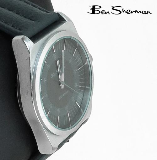 ベンシャーマン Ben Sherman グレー フェイス 腕時計 ラージサークル メンズ ベンシャーマン プレゼント ギフト