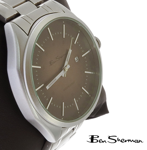SALE セール ! ベンシャーマン Ben Sherman ダーク ブラウン グラデーション フェイス 腕時計 メンズ プレゼント ギフト