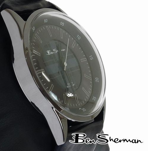 Ben Sherman ベンシャーマン 腕時計 大幅にプライスダウン モッズ Oval Round Dark Grey Check Face Leather Belt Watch 本革レザー ダークグレー ベルト フェイス ギフト 腕 UK 時計 オーバル トラッド bs030 チェック アナログ r798 ウォッチ メンズ メーカー直送