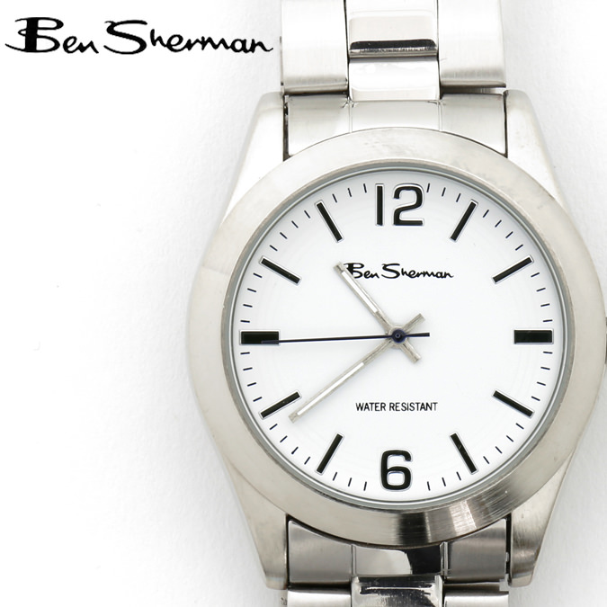 ベンシャーマン Ben Sherman 腕時計 ホワイトフェイス 円形 メンズ モッズ ギフト クリスマス