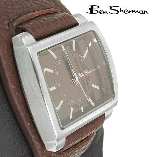 ベンシャーマン Ben Sherman リストバンド ブラウン フェイス 腕時計 メンズ 【送料無料】 モッズ プレゼント ギフト