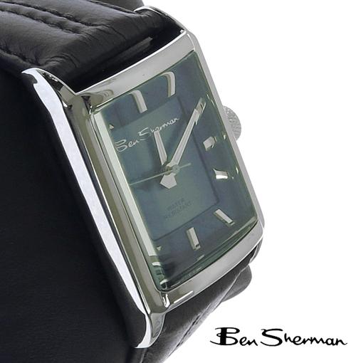 ベンシャーマン Ben Sherman オーシャン ブルー トーン フェイス レクタングル 腕時計 メンズ プレゼント ギフト クリスマス
