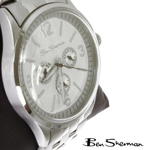 ベンシャーマン Ben Sherman クロノグラフ シルバー ホワイト フェイス 腕時計 メンズ 【送料無料】Chronograph Silver White Face Stainless Steel Belt Watch ステンレススティール r802