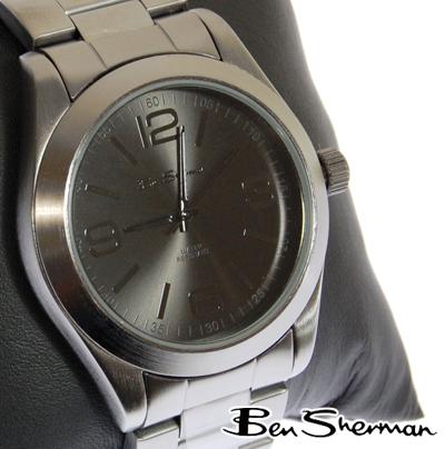 ベンシャーマン Ben Sherman 腕時計 ブラックフェイス 【送料無料】 メンズ モッズ ファッション ガンメタル ステンレス スティール ベルト Stainless Steel 腕 時計 アナログ ウォッチ UK モッズ r827 プレゼント ギフト クリスマス