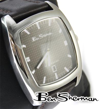 벤 셔먼 Ben Sherman 시계 초콜렛 홀 페이스 남성 모드 패션 아날로그 시계 아날로그 손목시계 아날로그 가죽 가죽 벨트 다크 브라운 UK 모드 BenSherman s877 선물