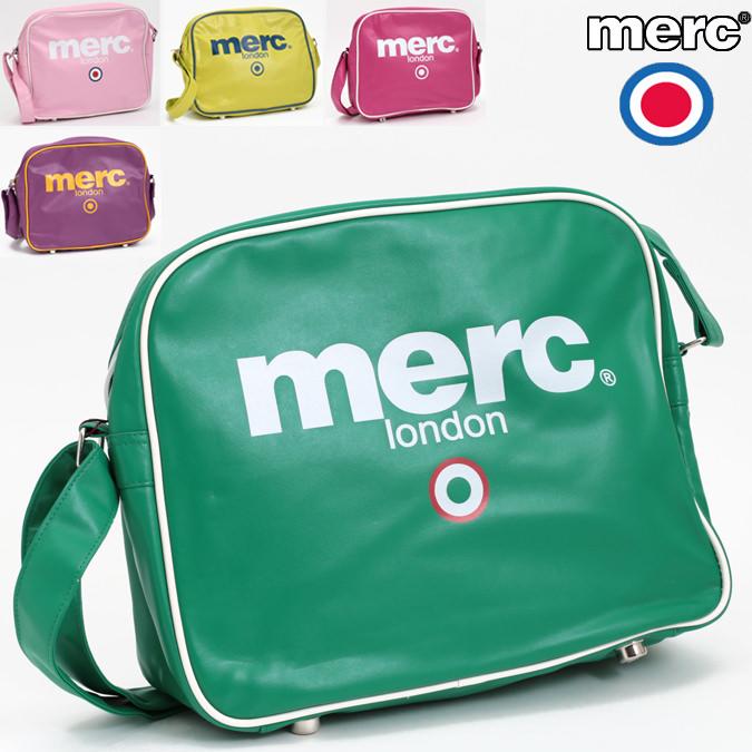 メルクロンドン ショルダーバッグ 5色 37x30x12cm グリーン ピンク メンズ マークロンドン Merc London モッズ プレゼント ギフト