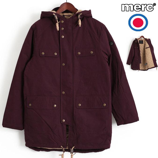 メルクロンドン Merc London コート ショートパーカ ジャケット キルティング W1 プレミアム ワイン レトロ メンズ モッズファッション プレゼント ギフト